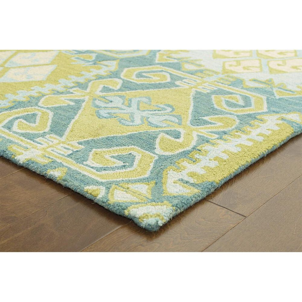 Oriental Weavers Jamison 53304 8' x 10' Green and Blue Area Rug, , large