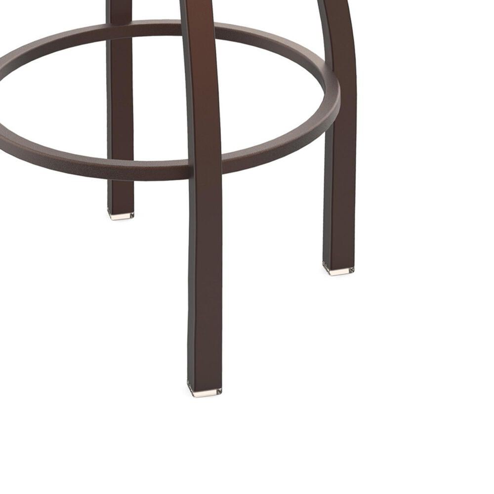 """Holland Bar Stool 411 Jackie 25"""" Low Back Swivel Counter Stool with Bronze and Canter Iron Seat, , large"""