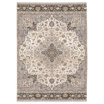 Oriental Weavers Maharaja Keller 660J 2' x 3' Ivory and Blue Scatter Rug, , large