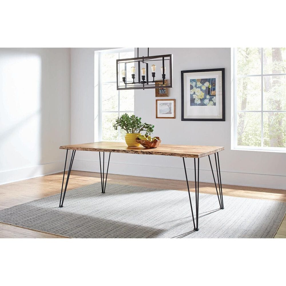 Pacific Landing Sherman Dining Table in Natural Acacia and Gunmetal - Table Only, , large
