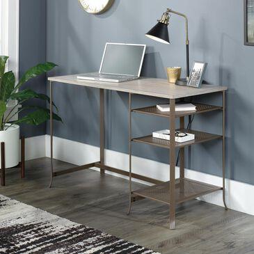 Sauder Center City Pedestal Desk in Champagne Oak, , large