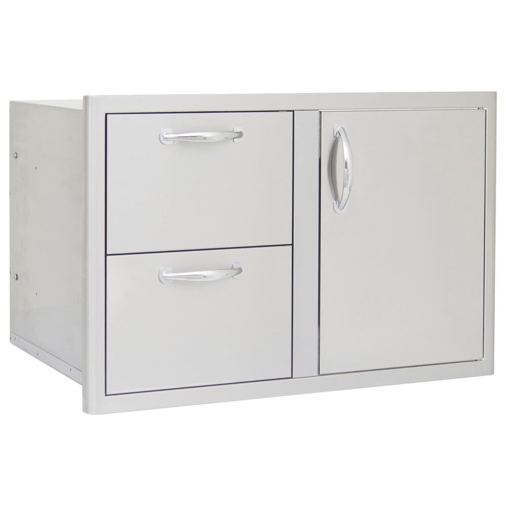 """Blaze 32"""" Access Door and Double Drawer Combo in Stainless Steel, , large"""
