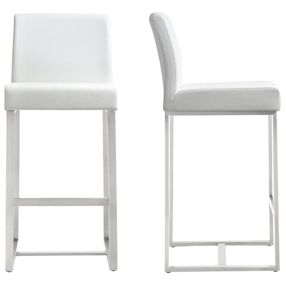 Tov Furniture Denmark Counter Stool in White (Set of 2), , large