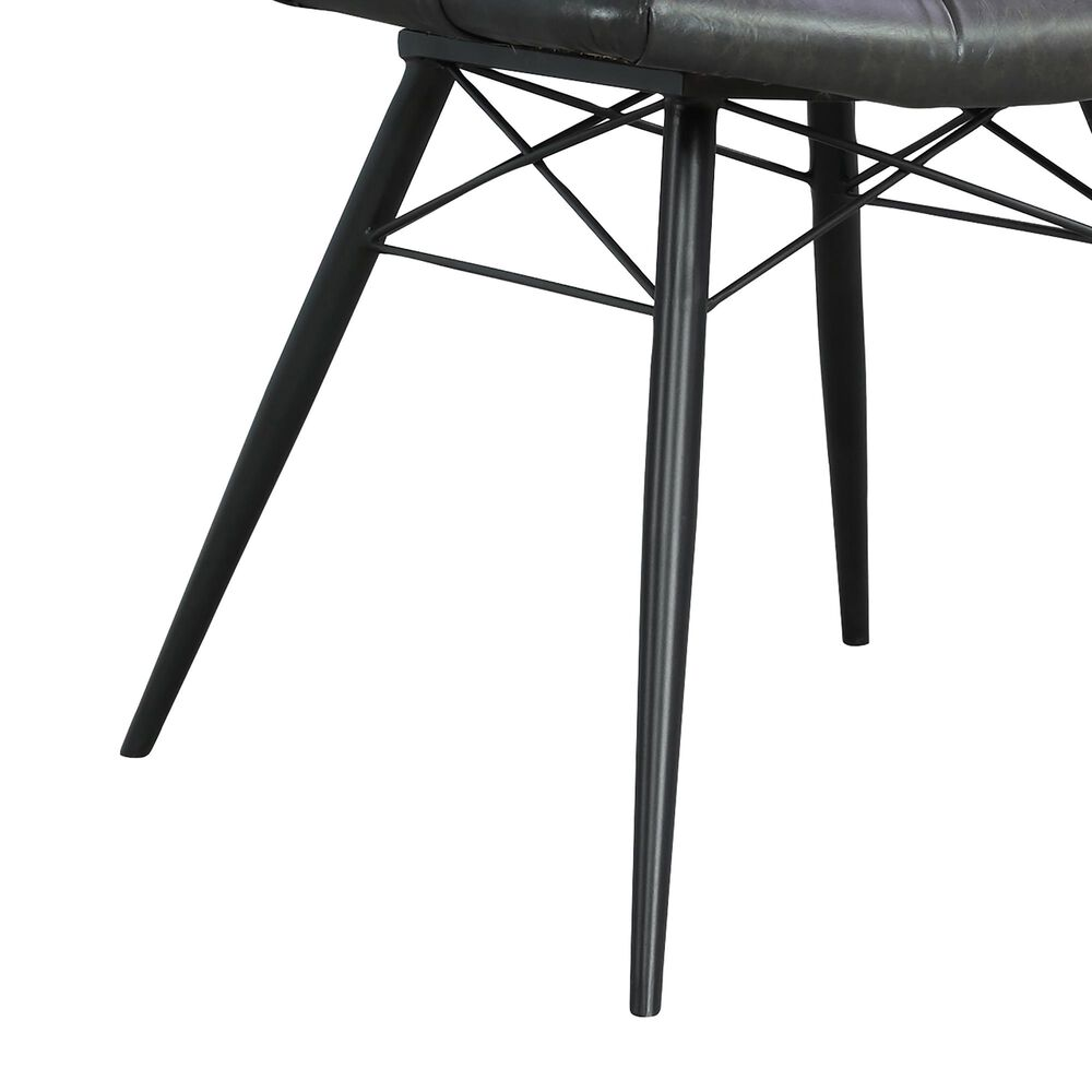 Pacific Landing Dittnar Tufted Dining Chair with Charcoal Cushion in Grey, , large