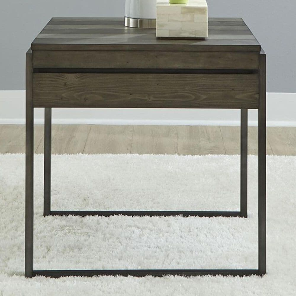 Belle Furnishings End Table in Weathered Gray, , large