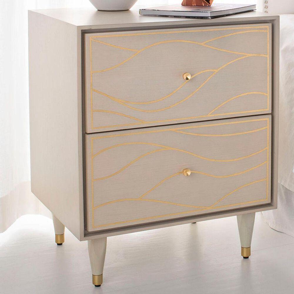 Safavieh Broderick Nightstand in White Gold, , large