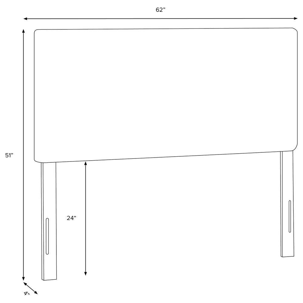 Skyline Furniture Queen Headboard in Indian Blockprint Grey, , large