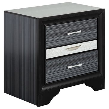 Gunnison Co. Naima 2 Drawer Nightstand in Black, , large