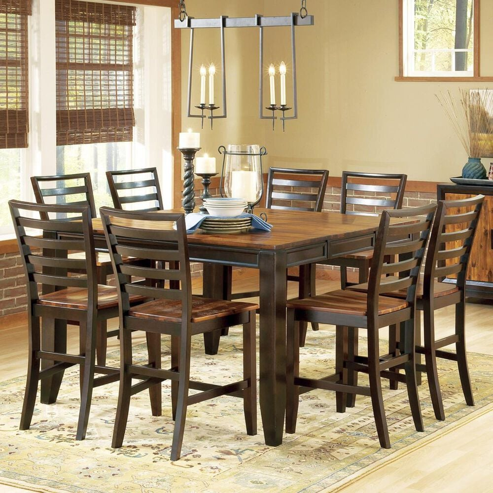 Crystal City Abaco 9-Piece Counter Height Set in Cherry, , large