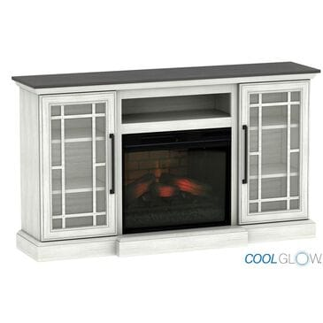"Fabio Flames 60"" Coolglow Media Mantel in Shelby White, , large"