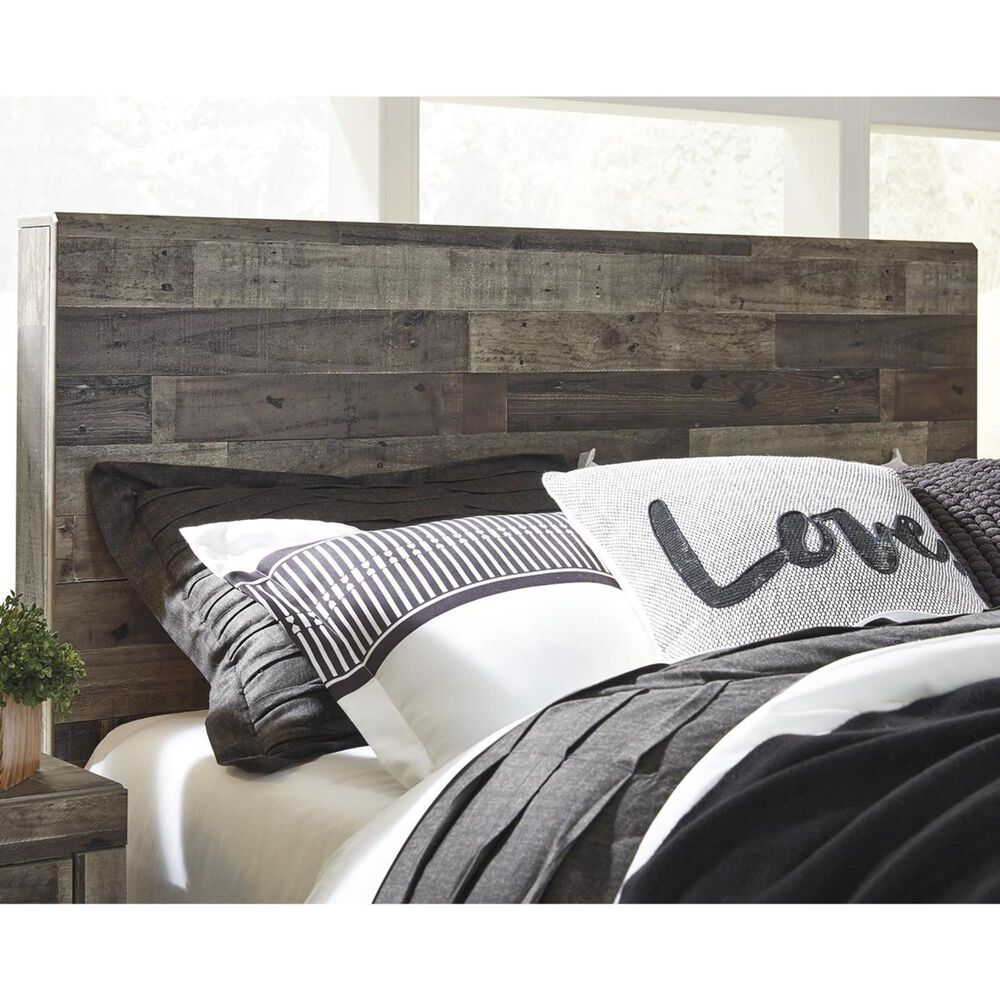Signature Design by Ashley Derekson Full/Queen Panel Headboard in Walnut and Gray, , large