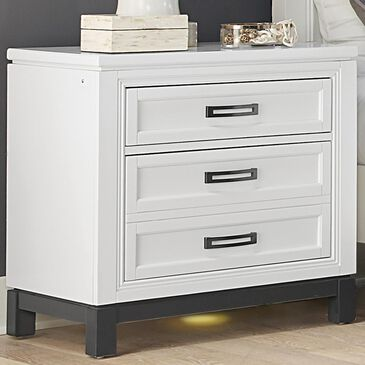 Riva Ridge Hyde Park 2 Drawer Nightstand in White, , large