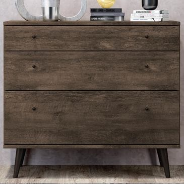 International Home Miami Midtown Concept 3 Drawer Dresser in Distressed Brown, , large