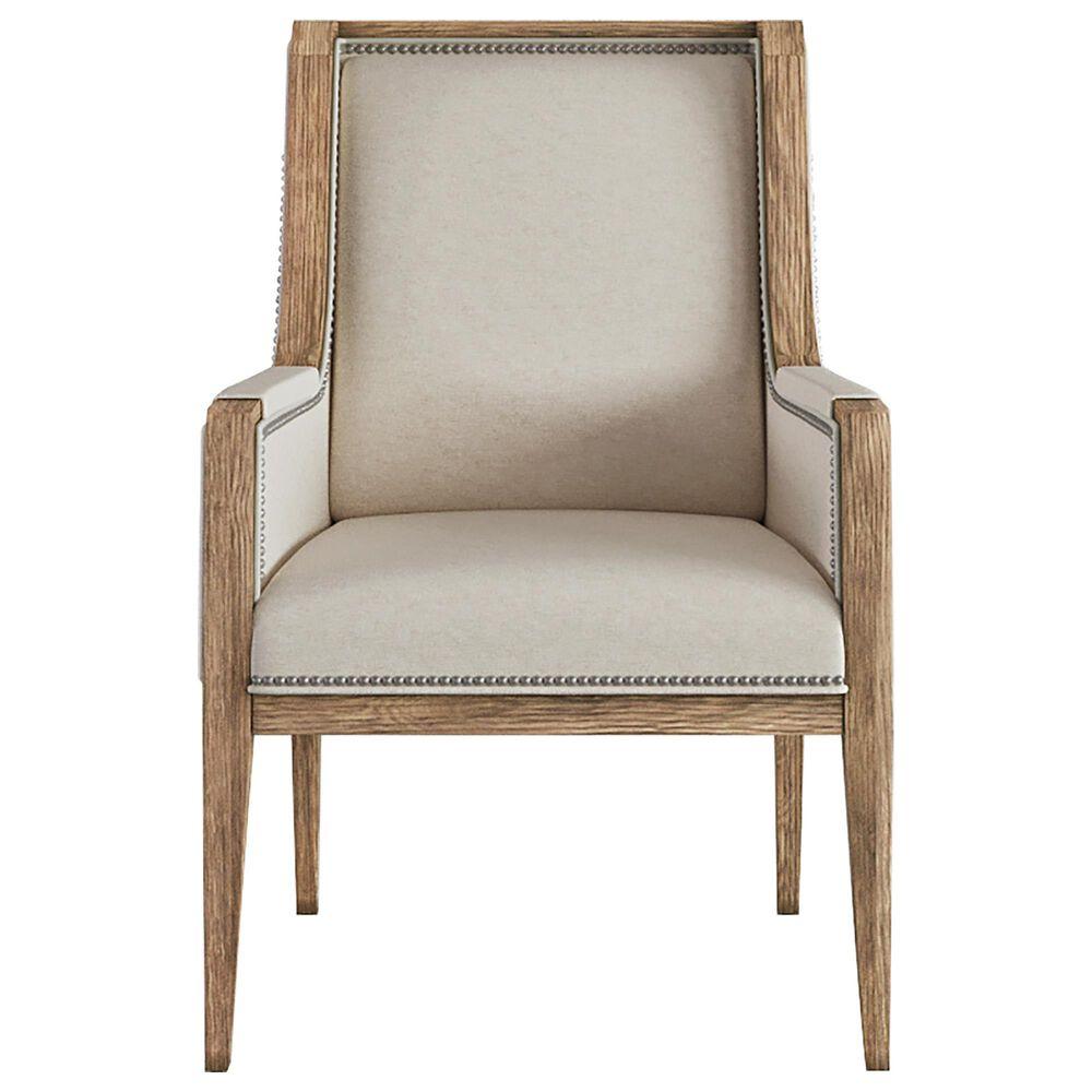 Vantage Passage Host Upholstered Arm Chair in Light Oak, , large