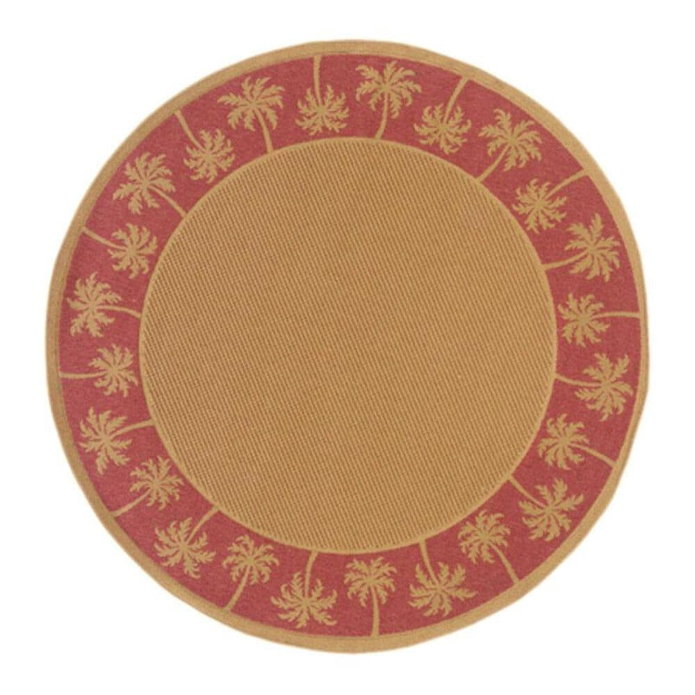 "Oriental Weavers Lanai 606C 7'10"" Round Beige/Rust Area Rug, , large"