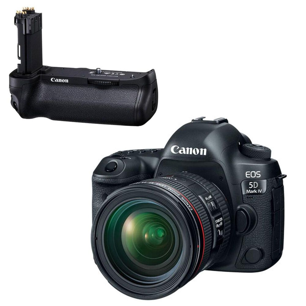 Canon  EOS 5D Mark IV DSLR Camera w/ 24-70mm with Battery Grip Bundle , , large