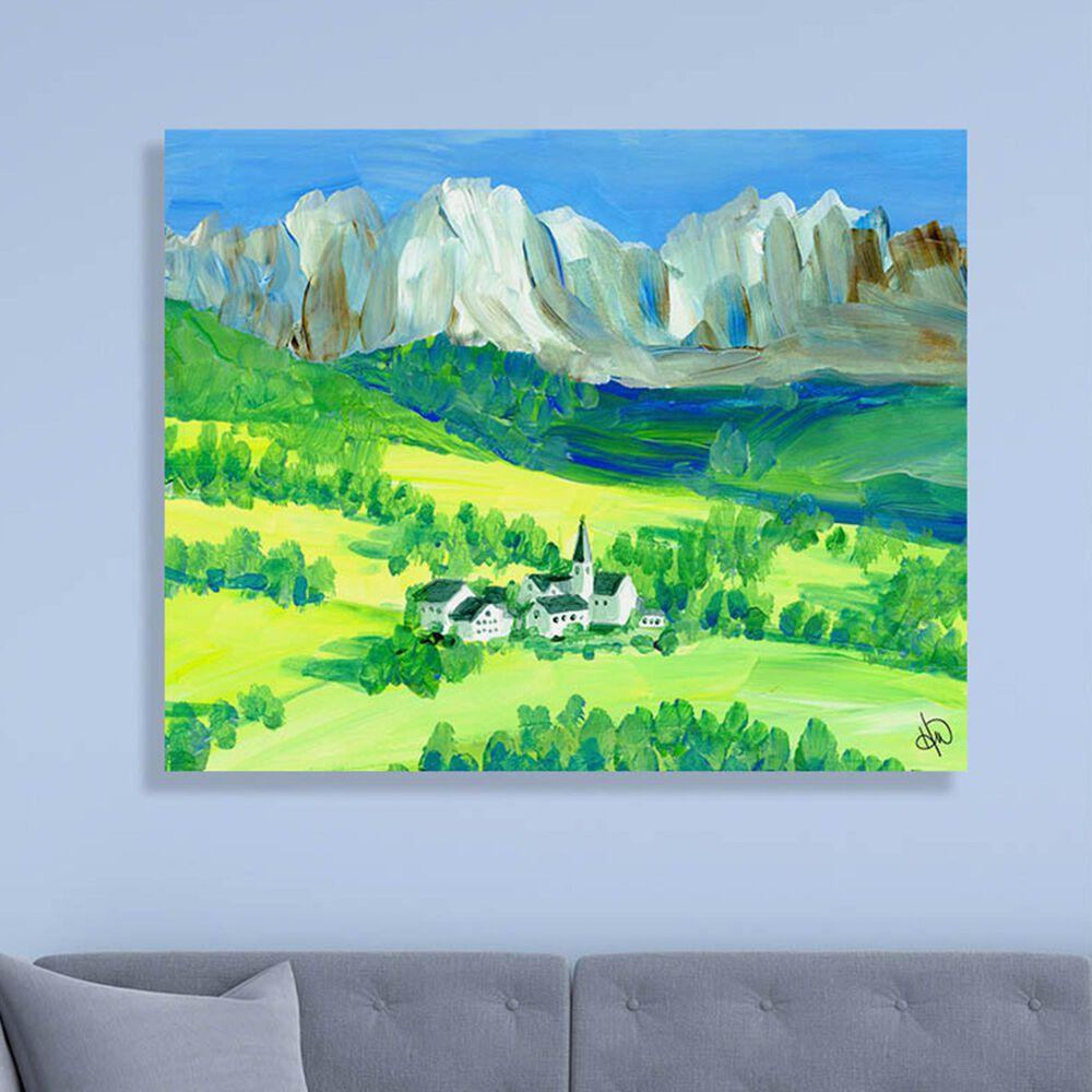 "Kathy Ireland Home ""Swiss Alps"" 16"" x 20"" Metal Wall Art Print, , large"