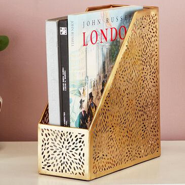 """Maple and Jade 12"""" Magazine Holder in Gold, , large"""