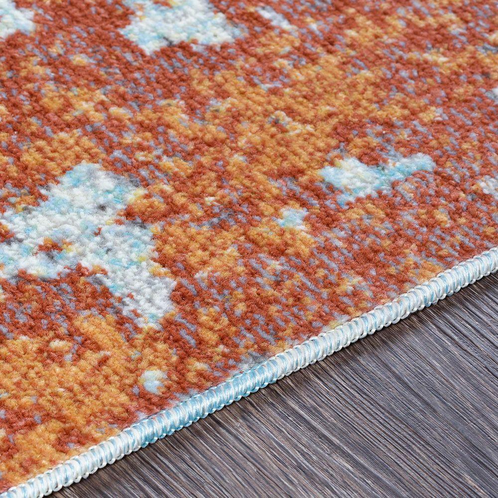 "Surya Bodrum 6' x 9'11"" Orange, Saffron, Gray and Blue Area Rug, , large"