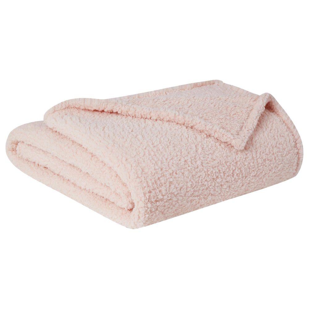 Pem America Brooklyn Loom Marshmallow King Blanket in Blush, , large