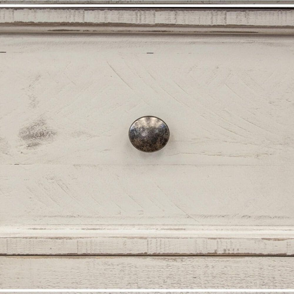 Fallridge Stone 1 Drawer Nightstand in Eggshell Antiqued, , large