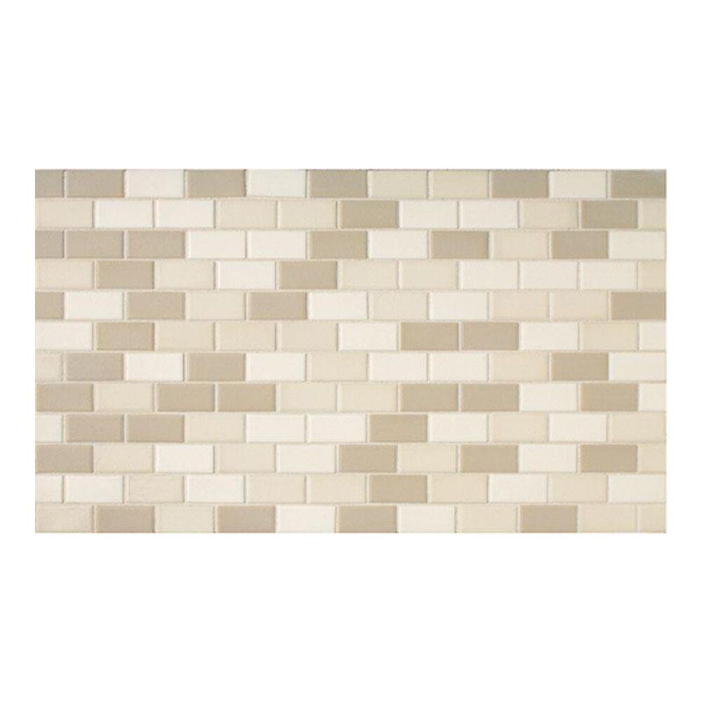 "Dal-Tile Keystone Blends Beach 12"" x 24"" Brick-Work Ceramic Mosaic Sheet, , large"