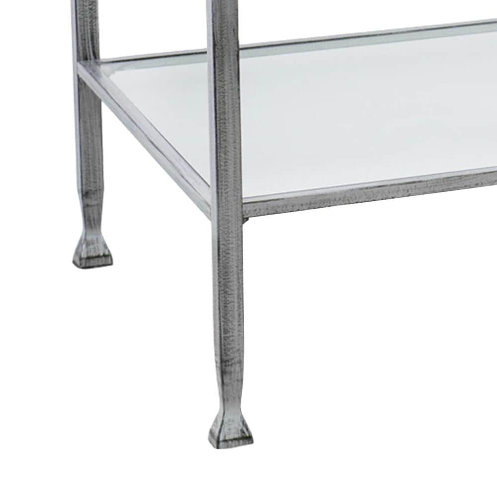 Southern Enterprises Jaymes Open Shelf Coffee Table in Distressed Silver and Black, , large
