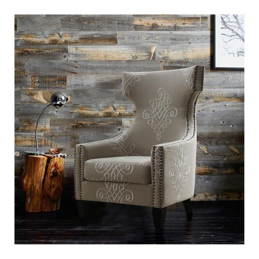 Tov Furniture Gramercy Linen Wing Chair, , large