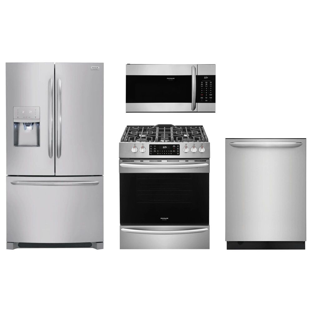 Frigidaire Gallery 4-Piece Kitchen Package with Slide In Gas Range - Stainless Steel , , large