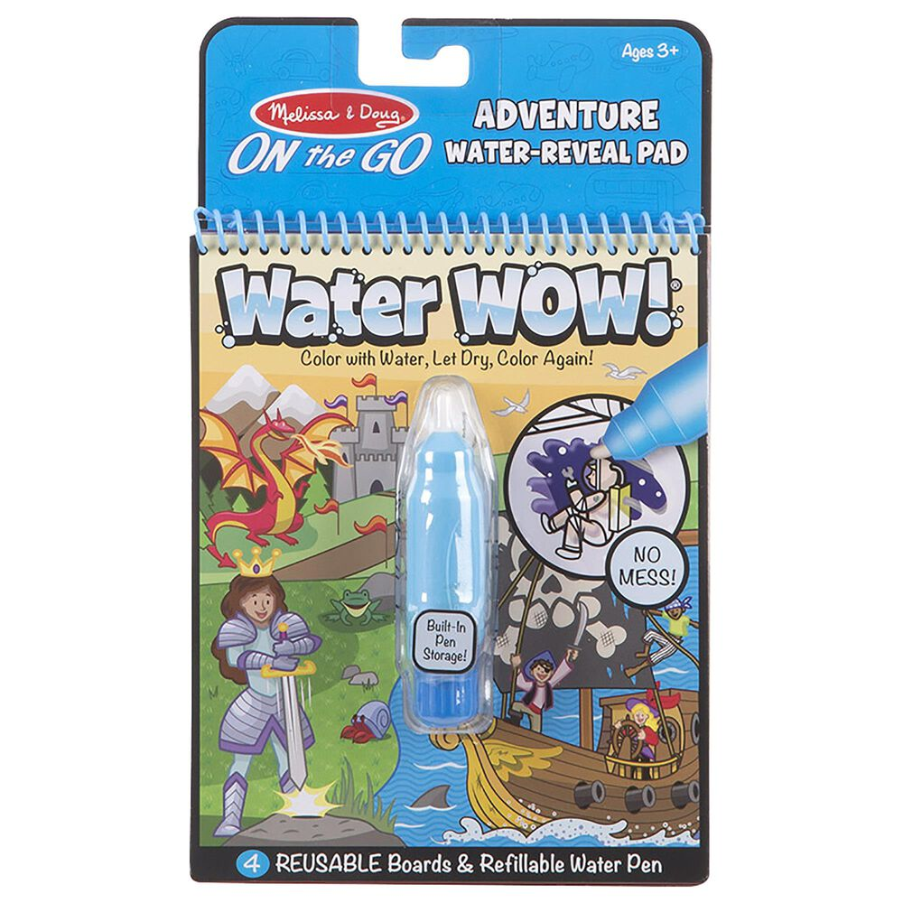 Melissa & Doug On The Go: Water Wow Adventure Activity Pad, , large