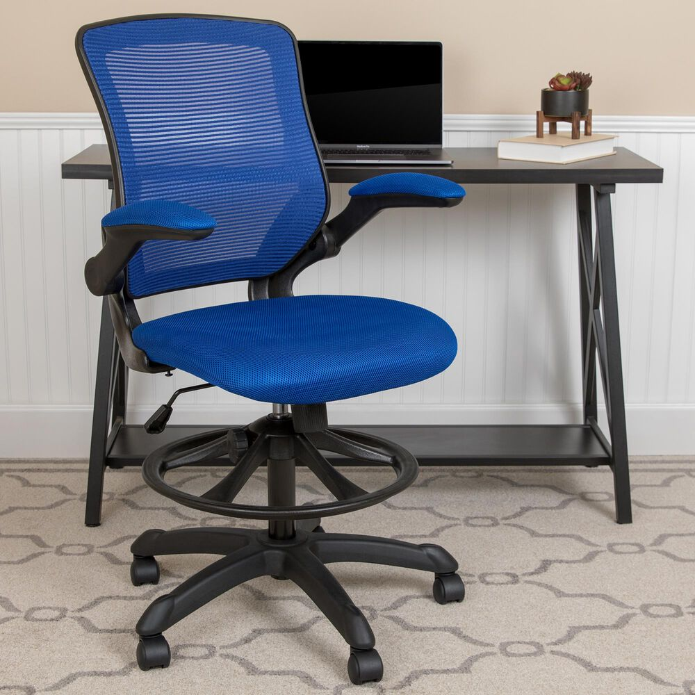 Flash Furniture Drafting Chair in Blue, , large