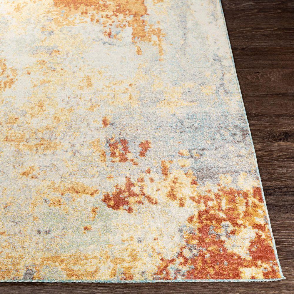 "Surya Bodrum 5'3"" x 7'3"" Ivory, Orange, Saffron, Gray and Blue Area Rug, , large"
