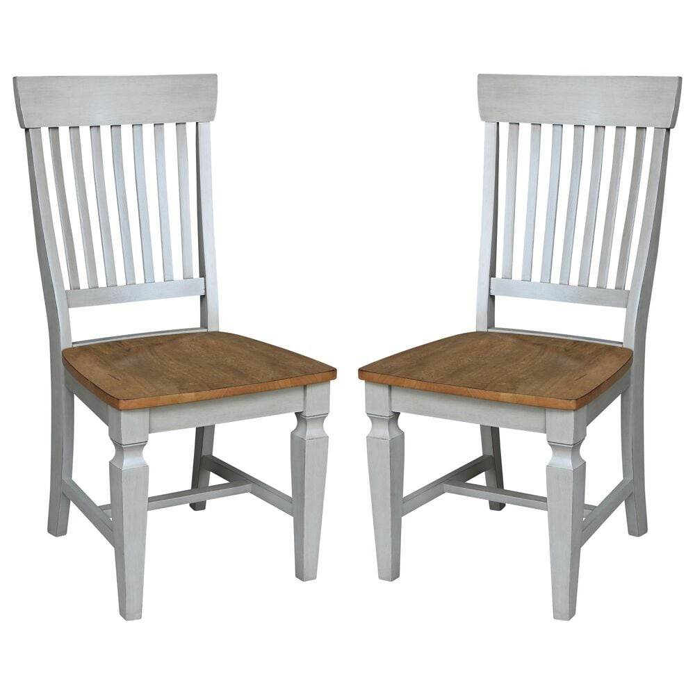 International Concepts Vista Dining Chair in Hickory/stone (Set of 2), , large