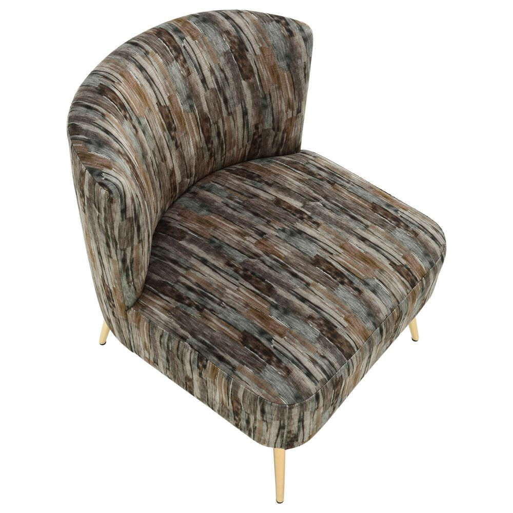 Lumisource Fran Slipper Chair in Grey and Gold, , large