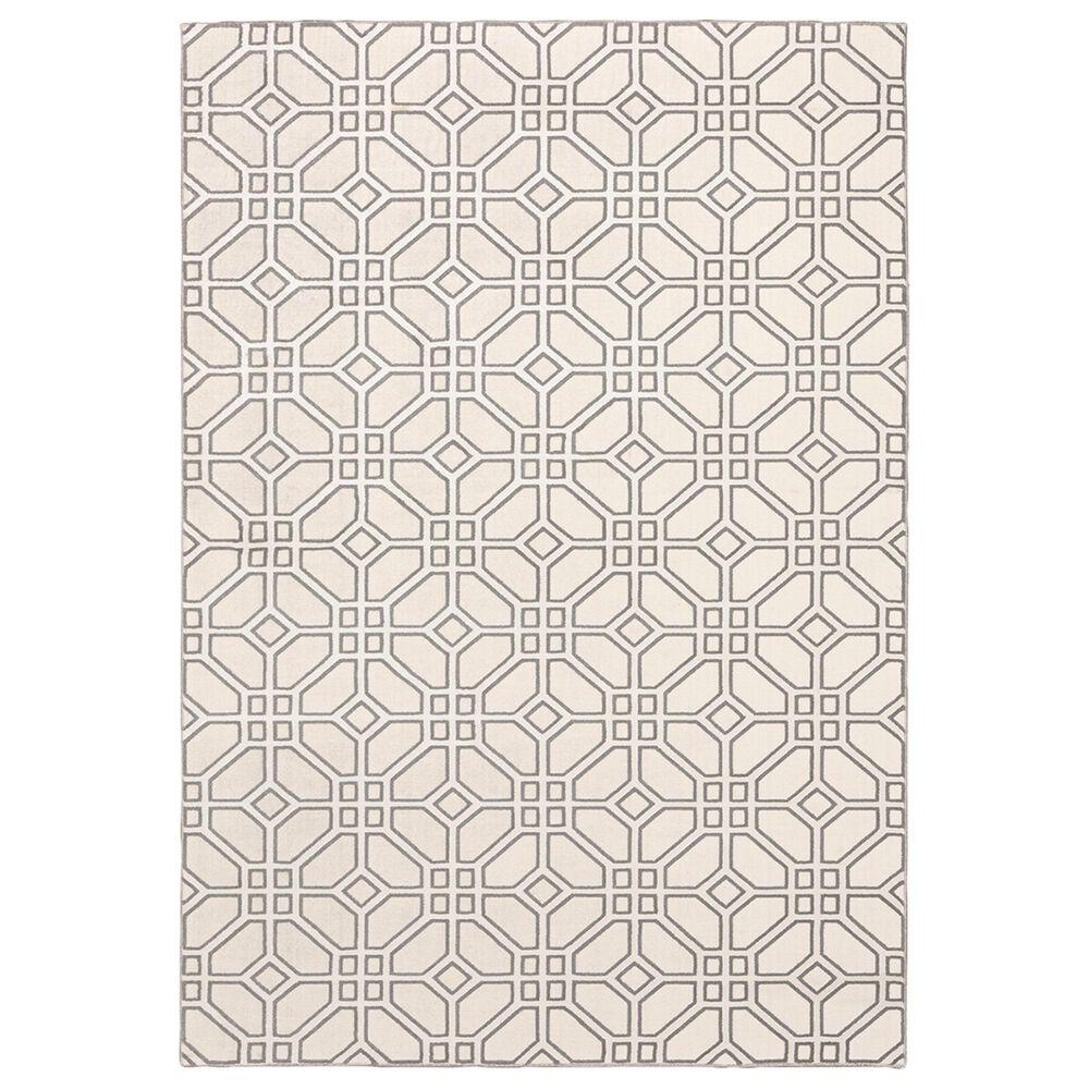 "Oriental Weavers Capistrano Geometric 522A1 2""3"" x 7""3"" White Runner, , large"