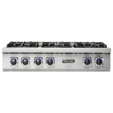 """Viking Range 36"""" Natural Gas Rangetop with 6 Burners in Stainless Steel, , large"""