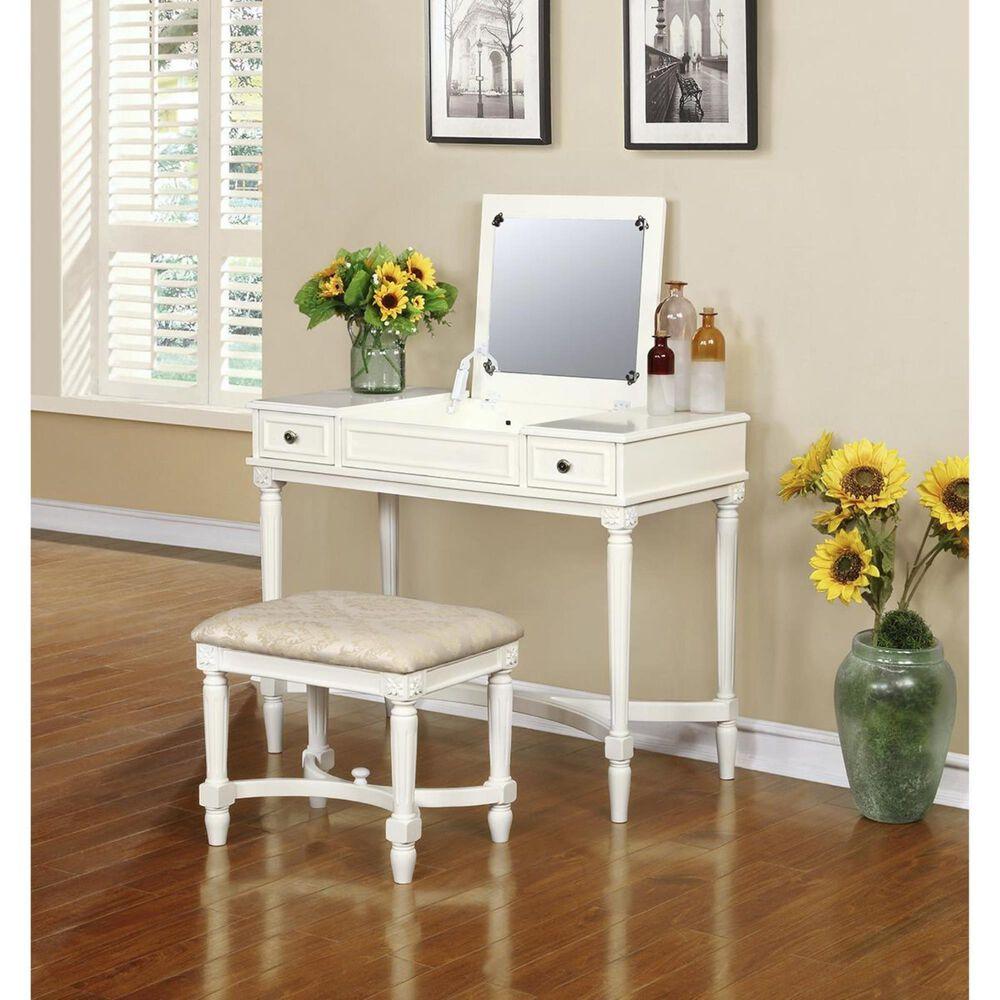 Linden Boulevard Cyndi Vanity Set in White, , large