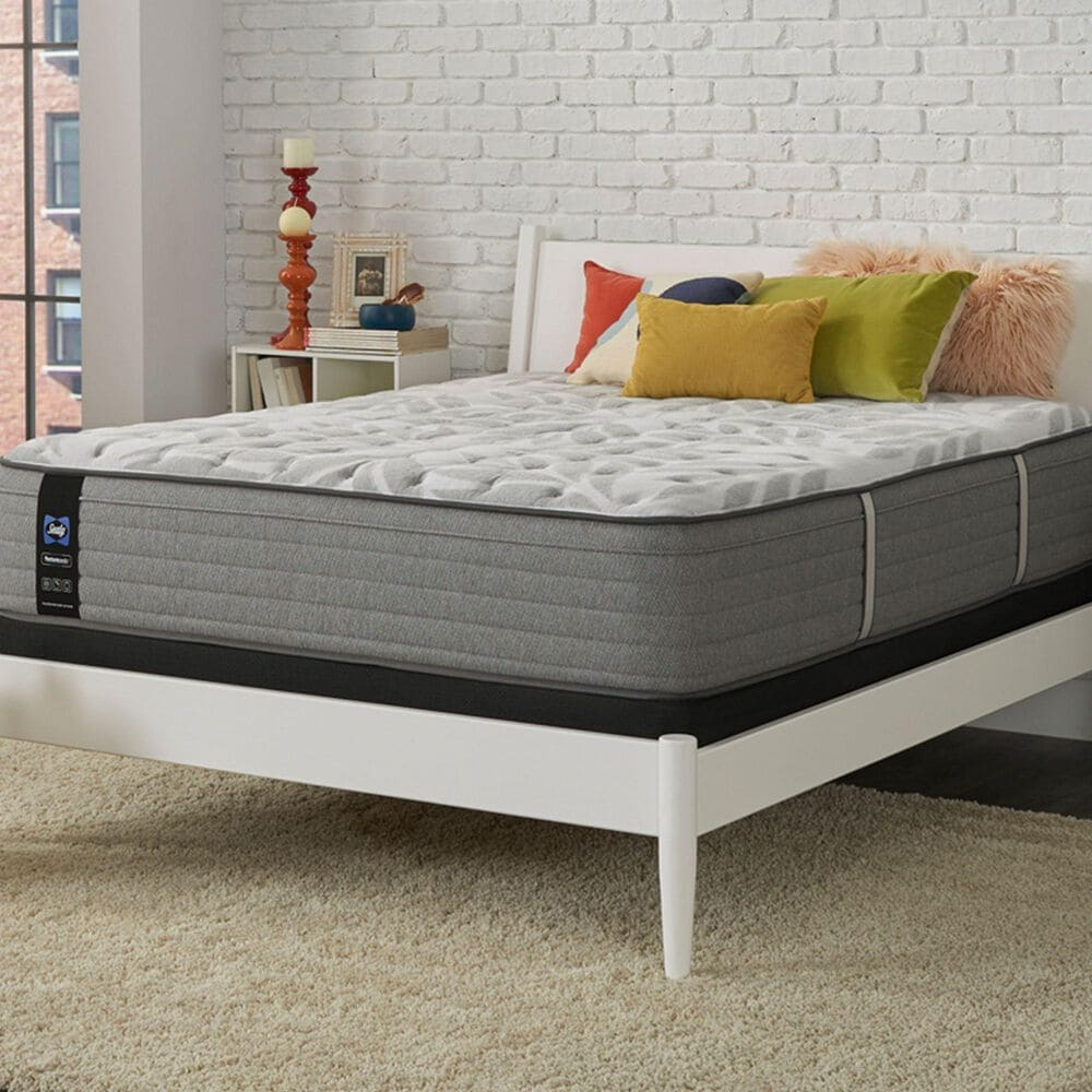 Sealy Spring Posturepedic Dantley Firm Euro Pillow Top Twin Mattress with High Profile Box Spring, , large