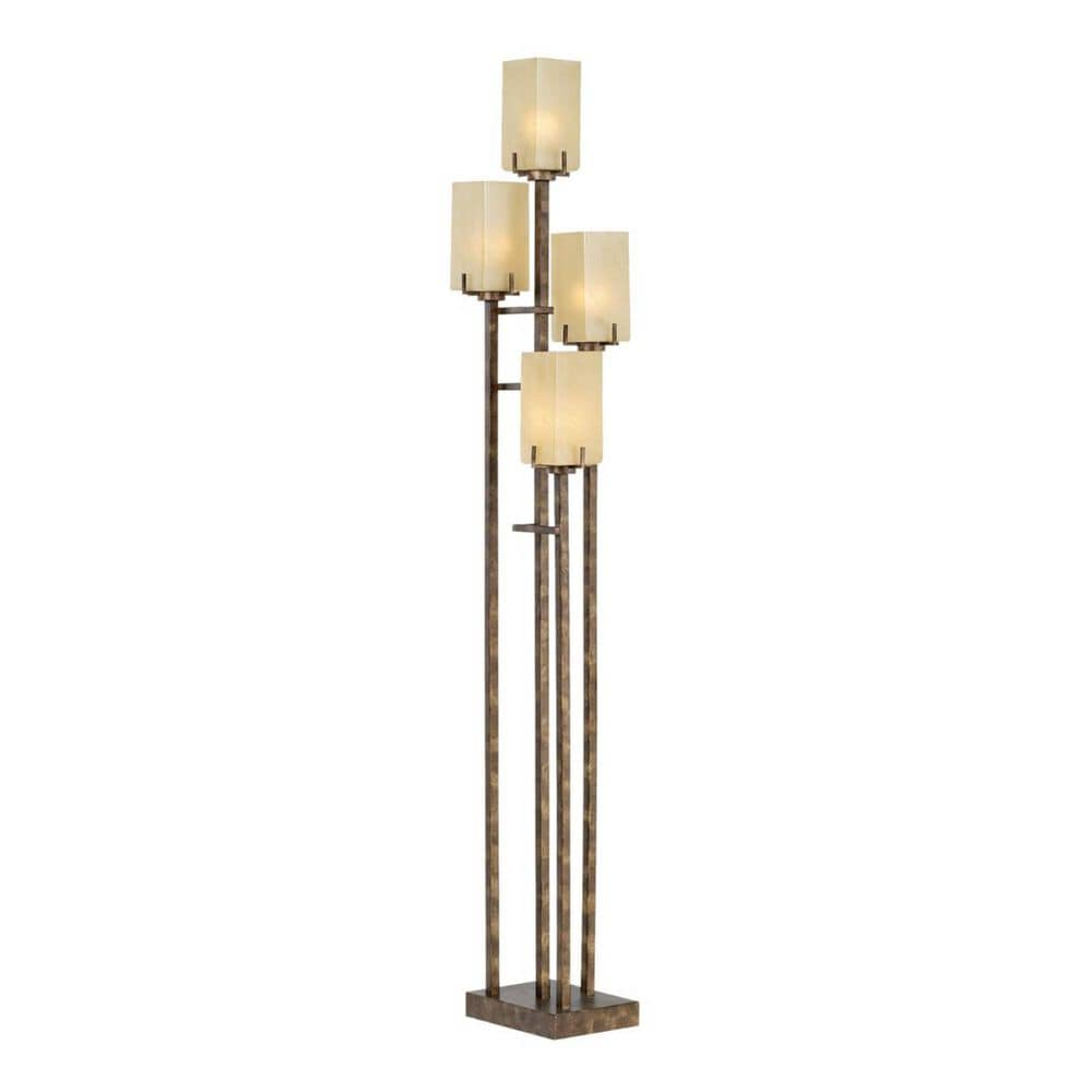 Pacific Coast Lighting City Heights Up Floor Lamp in Copper Bronze With Gold , , large