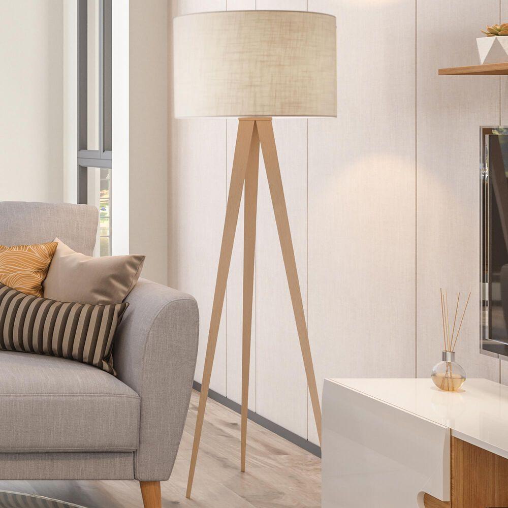 Adesso Director Floor Lamp in Natural Oak, , large