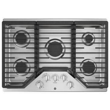 "GE Appliances 30"" Built-In Gas Cooktop in Stainless Steel, , large"