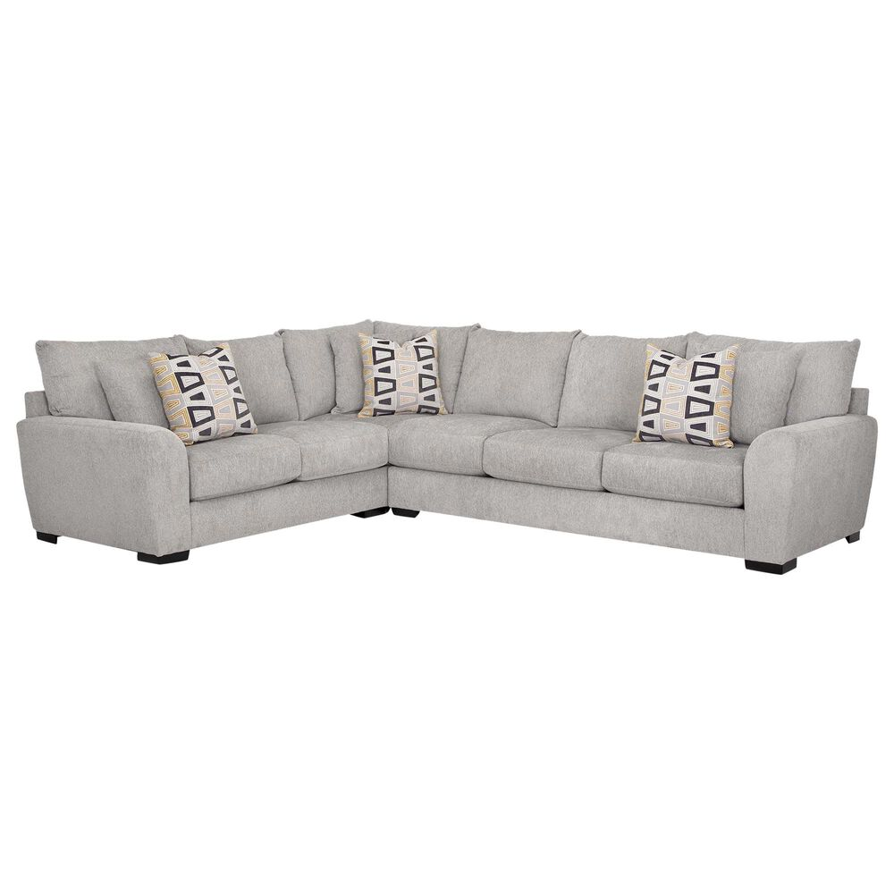 Moore Furniture Dorian Stationary Sectional in Pebbles Shadow, , large