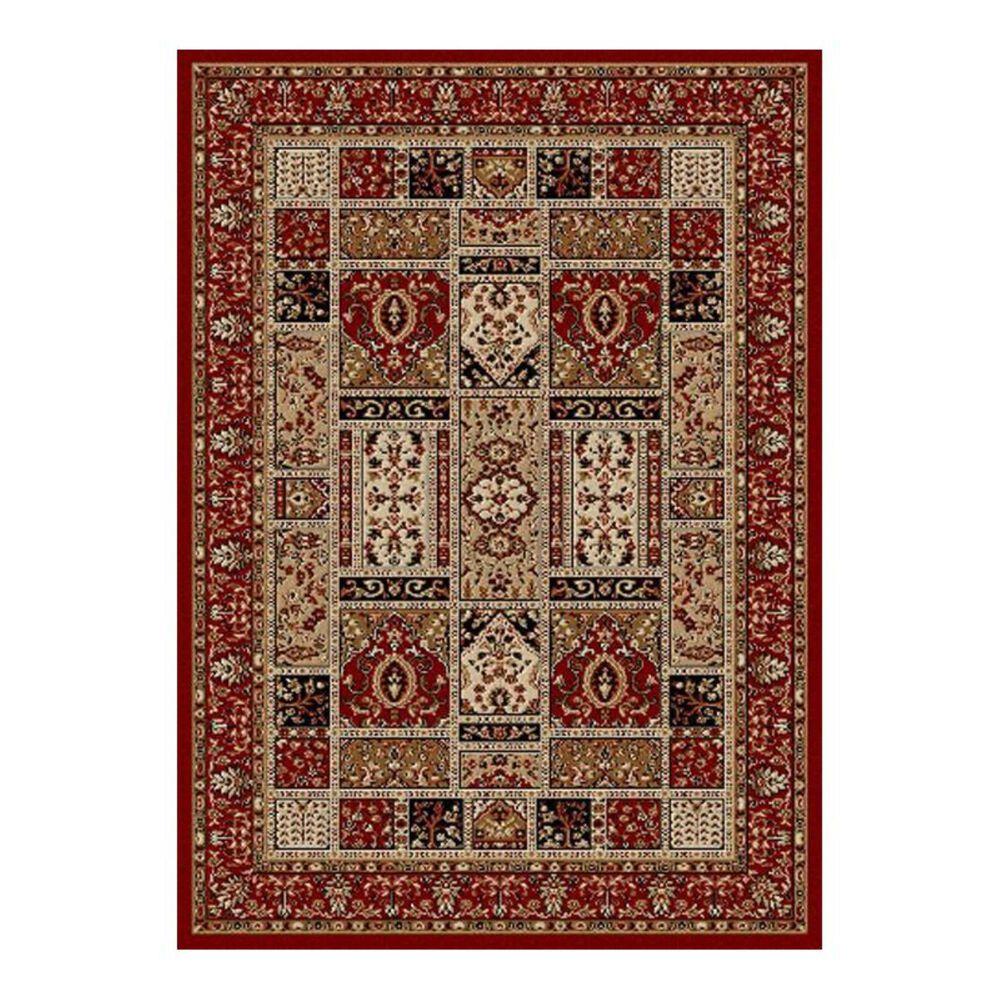 "Radici USA Bergamo 1834 5'5"" x 7'7"" Red Area Rug, , large"