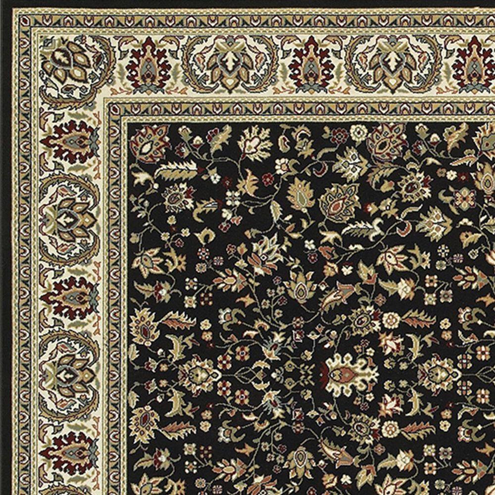 "Oriental Weavers Kashan 108B 7'10"" x 10'10"" Black Area Rug, , large"