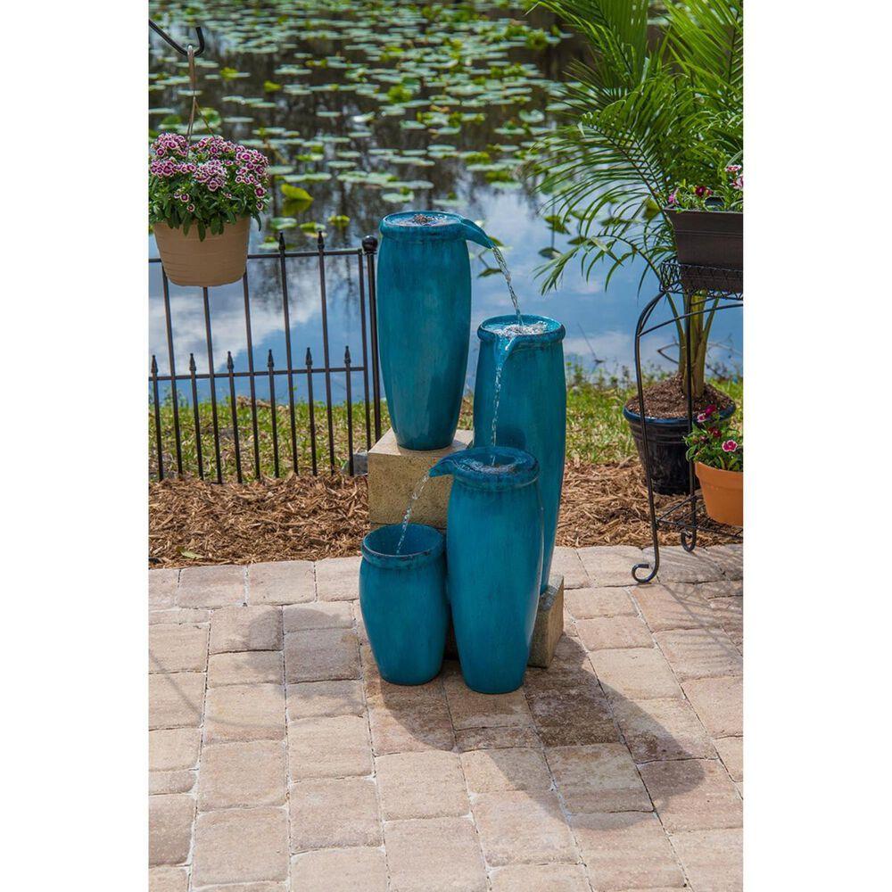 Kenroy Vessel Indoor/Outdoor Floor Fountain in Textured Blue, , large