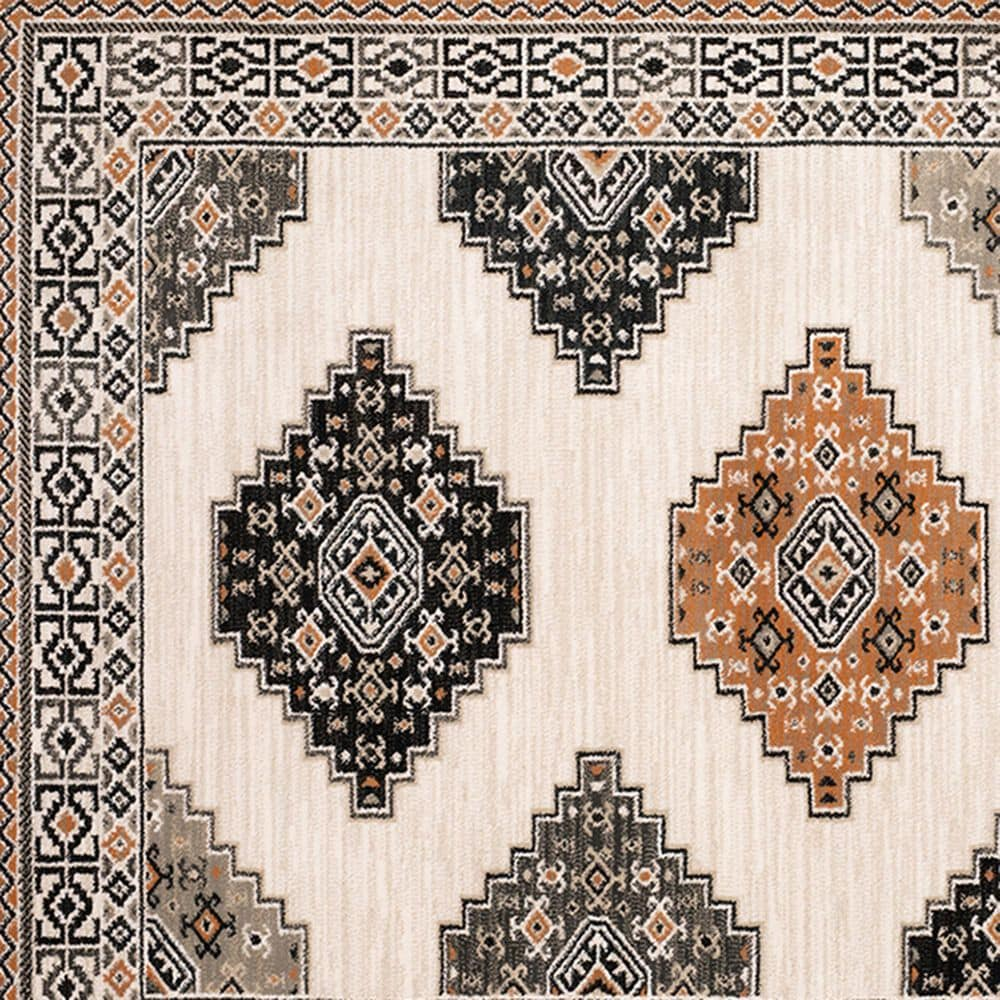 "Oriental Weavers Georgia Southwest 640A0 3'10"" x 5'5"" Ivory Area Rug, , large"