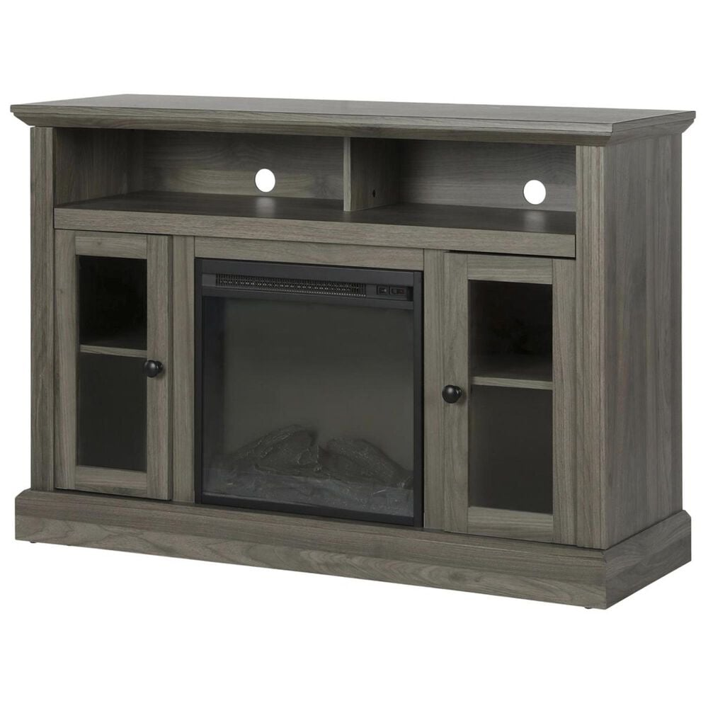 """DHP Tacoma 50"""" TV Console with Electric Fireplace in Rustic Gray, , large"""