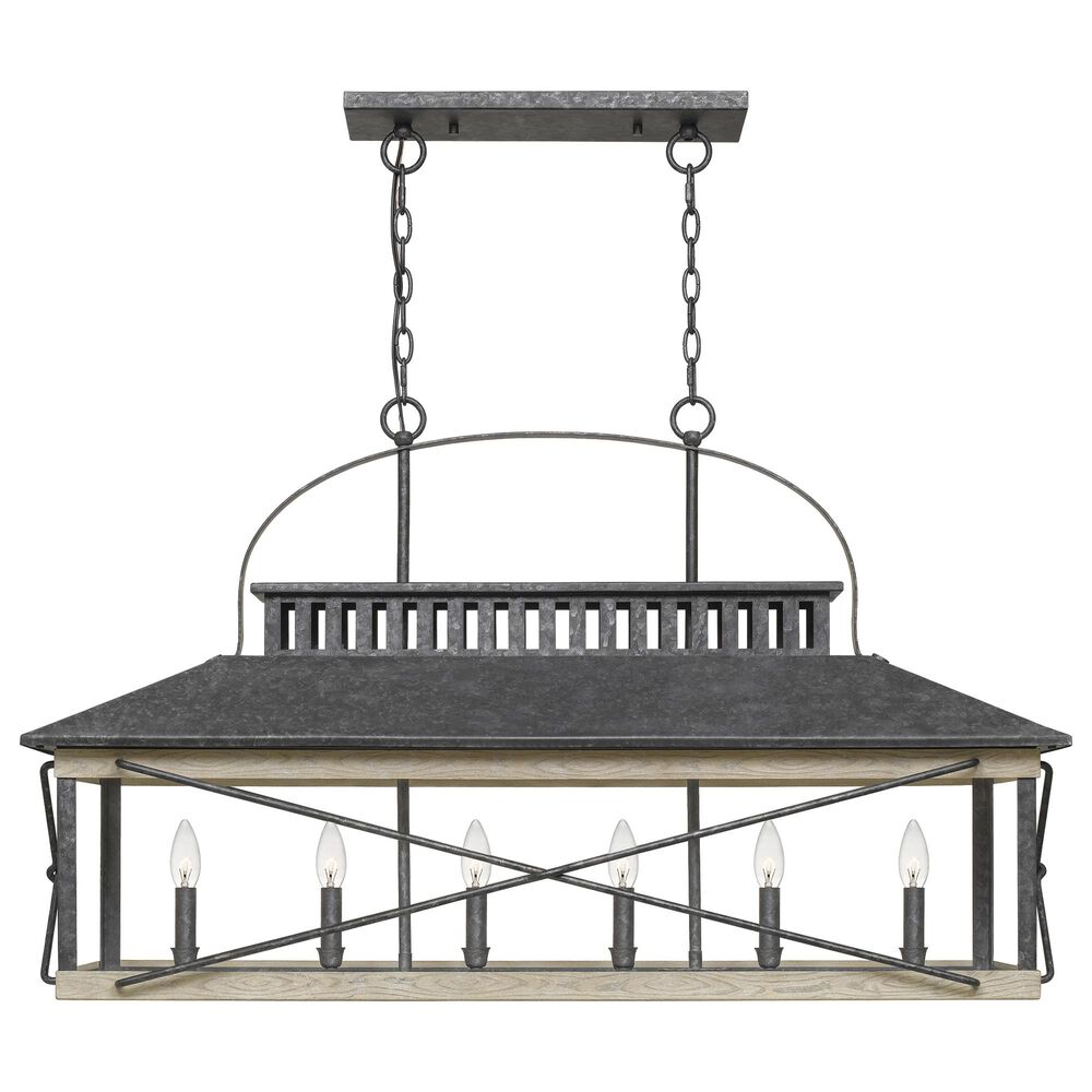 Quoizel Brennan Island 6-Light Chandelier in Old Black, , large