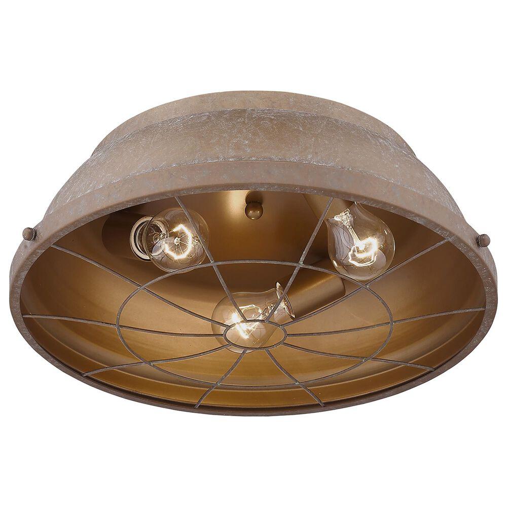 """Golden Lighting Bartlett 16"""" Flush Mount in Copper Patina, , large"""