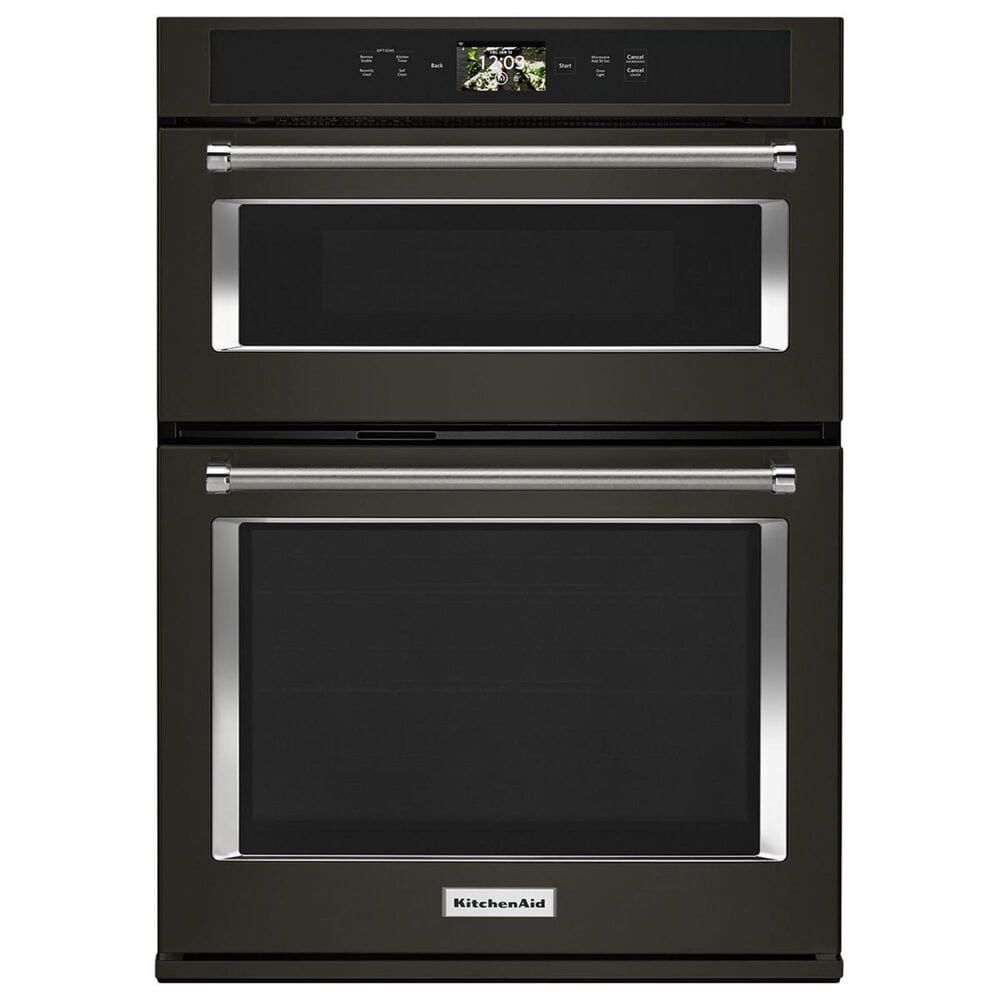 """KitchenAid 30"""" Wall Oven with Microwave Combo Smart in Black Stainless Steel, , large"""
